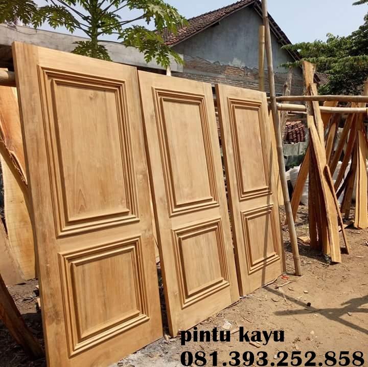Desain Pintu Kayu Jati - Pintu Kayu Jati Mbarep Jati
